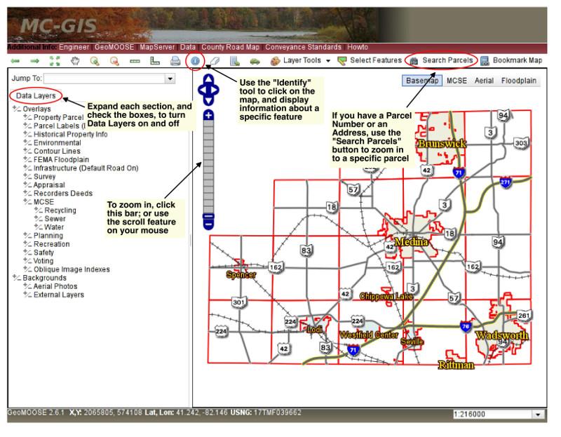 MCGIS - Us parcel map